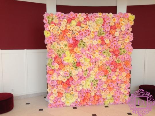 Цветочная стена в аренду