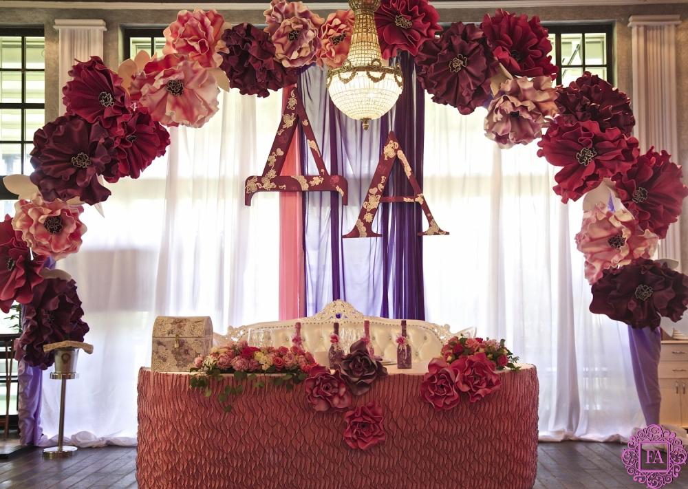 Фото большие цветы на свадьбе 22